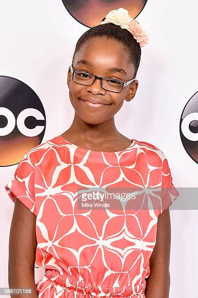 Actress Marsai Martin attends the Disney ABC Television Group TCA Summer Press Tour on August 4 2016 in Beverly Hills California