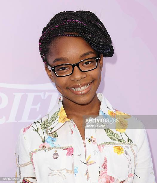 Actress Marsai Martin attends Variety's celebratory brunch event for awards nominees benefitting Motion Picture Television Fund at Cecconi's on...