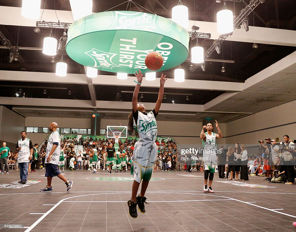 Actress Marsai Martin participates in the celebrity basketball game presented by Sprite during the 2016 BET Experience on June 25, 2016 in Los Angeles, California.