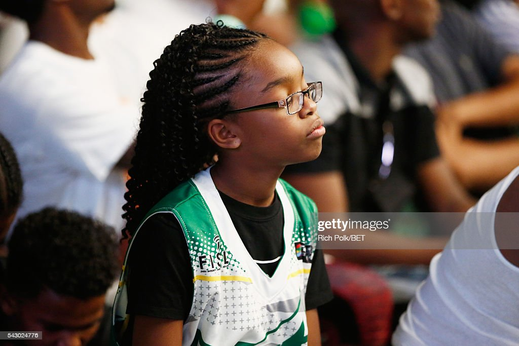 Actress <a gi-track='captionPersonalityLinkClicked' href=/galleries/search?phrase=Marsai+Martin&family=editorial&specificpeople=12819653 ng-click='$event.stopPropagation()'>Marsai Martin</a> participates in the celebrity basketball game presented by Sprite during the 2016 BET Experience on June 25, 2016 in Los Angeles, California.