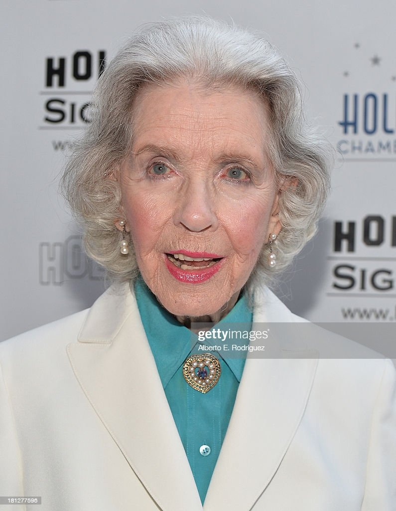 Actress <a gi-track='captionPersonalityLinkClicked' href=/galleries/search?phrase=Marsha+Hunt+-+Actress+-+Born+1917&family=editorial&specificpeople=91489 ng-click='$event.stopPropagation()'>Marsha Hunt</a> attends The Hollywood Chamber of Commerce & The Hollywood Sign Trust's 90th Celebration of the Hollywood Sign at Drai's Hollywood on September 19, 2013 in Hollywood, California.