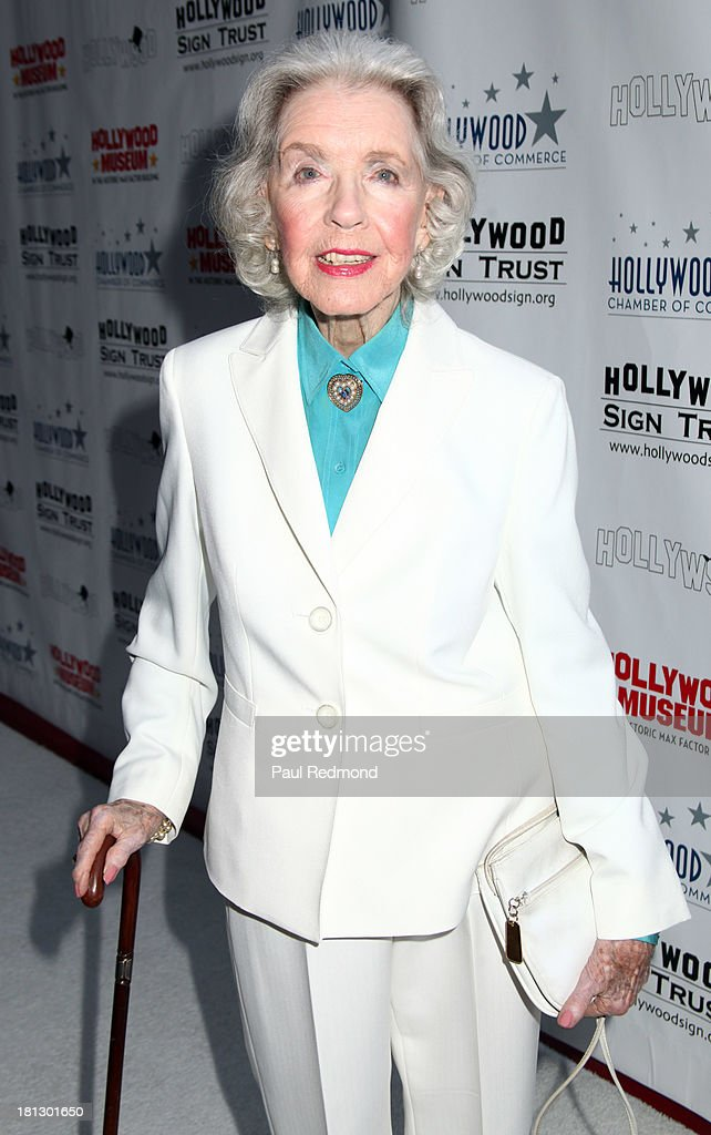 Actress <a gi-track='captionPersonalityLinkClicked' href=/galleries/search?phrase=Marsha+Hunt+-+Actress+-+Born+1917&family=editorial&specificpeople=91489 ng-click='$event.stopPropagation()'>Marsha Hunt</a> attends The Hollywood Chamber Of Commerce/The Hollywood Sign Trust's 'White Party' Celebrating 90th Anniversary Of The Hollywood Sign at Drai's Hollywood on September 19, 2013 in Hollywood, California.