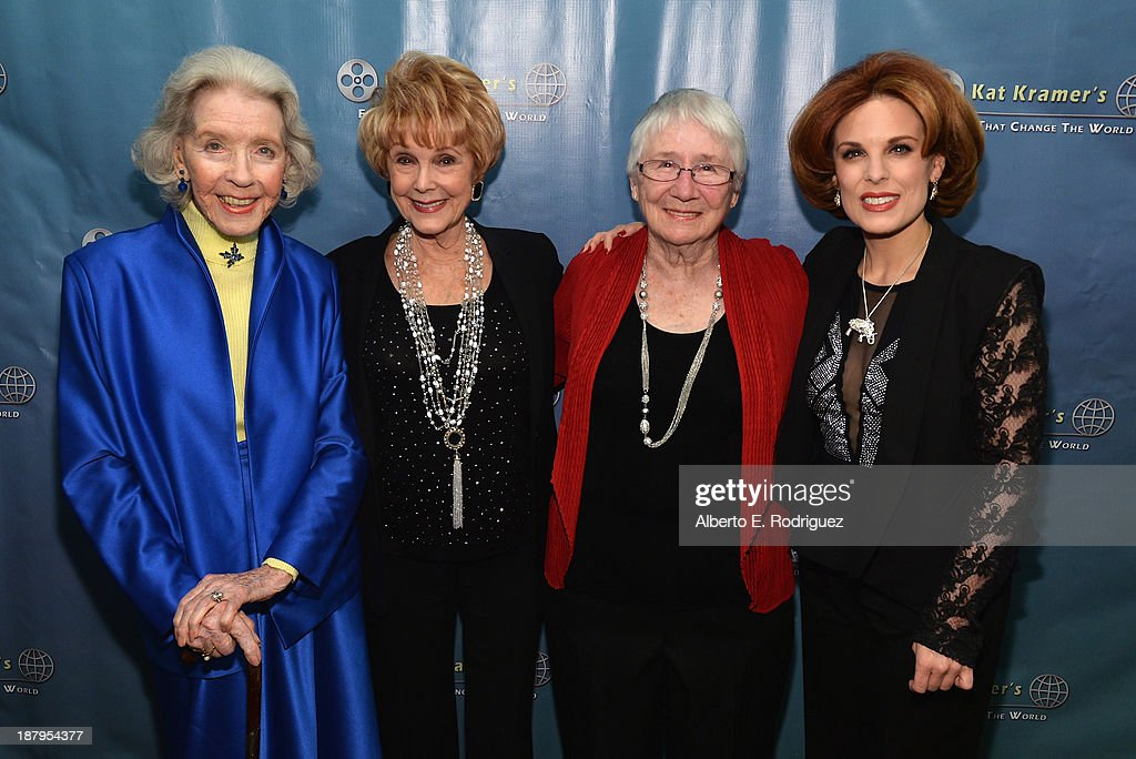 Actress Marsha Hunt producer Karen Kramer Heather Mayfield and producer Kat Kramer attend the 5th anniversary of 'Kat Kramer's Films That Changed The...