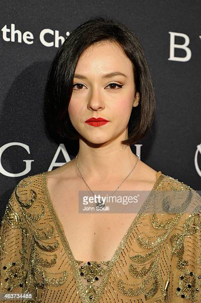Actress Marta Gastini attends BVLGARI and Save The Children STOP THINK GIVE PreOscar Event at Spago on February 17 2015 in Beverly Hills California