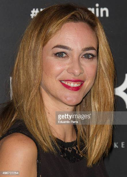 Actress Marta Hazas attends NYX Make Up party photocall at Chamartin space on November 11 2015 in Madrid Spain