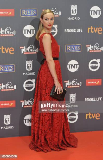 Actress Marta Hazas attends the 'Platino Awards 2017' photocall at La Caja Magica on July 22 2017 in Madrid Spain