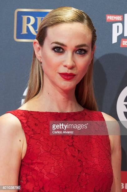 Actress Marta Hazas attends the Platino Awards 2017 photocall at the La Caja Magica on July 22 2017 in Madrid Spain