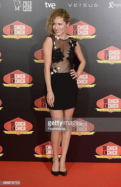 Actress Marta Larralde attends the 'De Chica en Chica' Premiere at Palafox Cinema on September 24 2015 in Madrid Spain