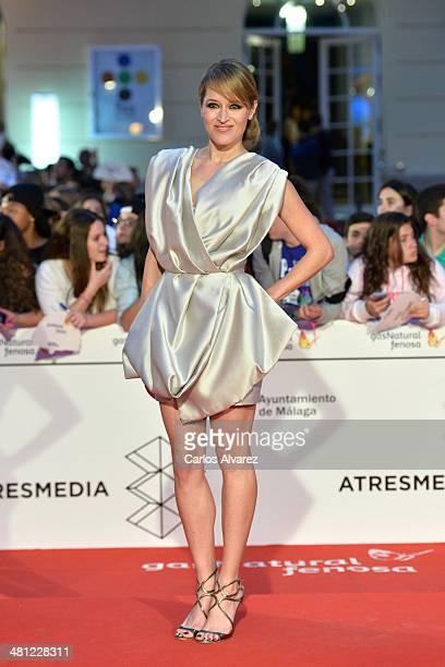 Actress Marta Larralde attends the 'La Vida Inesperada' premiere during the 17th Malaga Film Festival 2014 Day 8 at the Cervantes Theater on March 28...