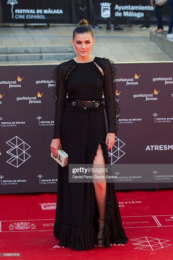 Actress Marta Nieto attends 'Nuestros Amantes' premiere during the 19th Malaga Film Festival at the Cervantes Teather on April 30, 2016 in Malaga, Spain.