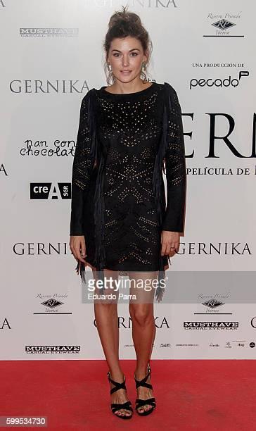 Actress Marta Nieto attends the 'Gernika' premiere at Palafox cinema on September 5 2016 in Madrid Spain