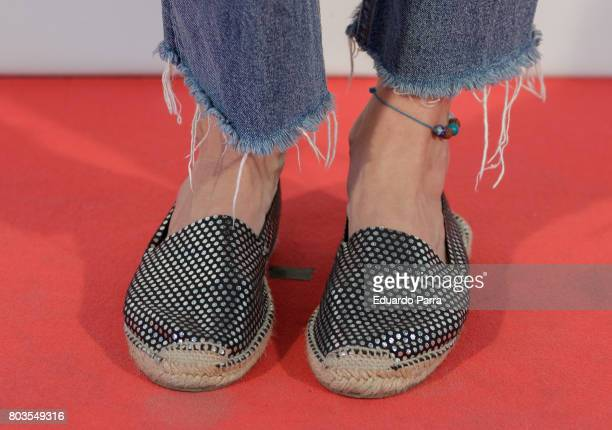 Actress Marta Nieto shoes detail attends the 'Despido procedente' photocall at Callao cinema on June 29 2017 in Madrid Spain