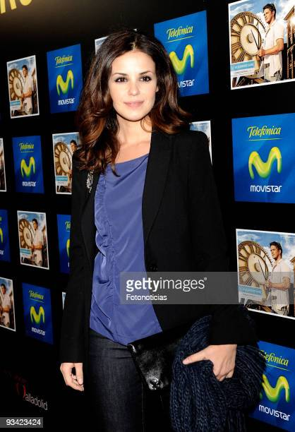 Actress Marta Torne attends the Alejandro Sanz concert at the Compac Gran Via Theatre on November 25 2009 in Madrid Spain