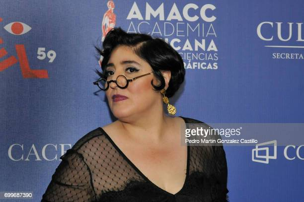 Actress Martha Claudia Moreno poses during the 59th Ariel Awards Nominees Event at Fiesta Americana Hotel on June 21 2017 in Mexico City Mexico