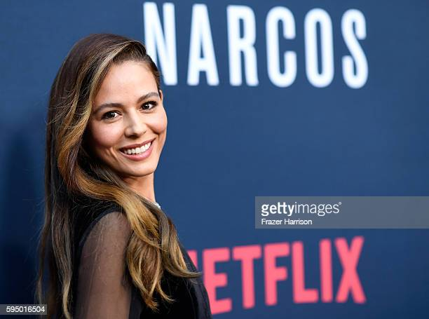Actress Martina Garcia attends the Premiere of Netflix's 'Narcos' Season 2 at ArcLight Cinemas on August 24 2016 in Hollywood California