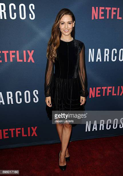 Actress Martina Garcia attends the season 2 premiere of 'Narcos' at ArcLight Cinemas on August 24 2016 in Hollywood California