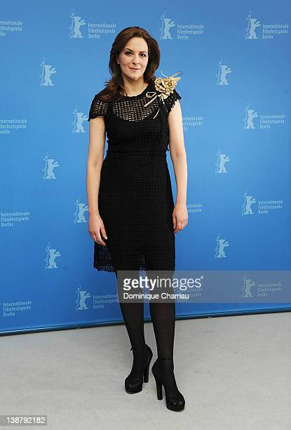 Actress Martina Gedeck attends the 'Die Wand' Photocall during day four of the 62nd Berlin International Film Festival at the Grand Hyatt on February...
