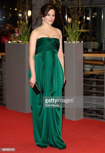 Actress Martina Gedeck attends the 'Tuan Yuan' Premiere during day one of the 60th Berlin International Film Festival at the Berlinale Palast on...