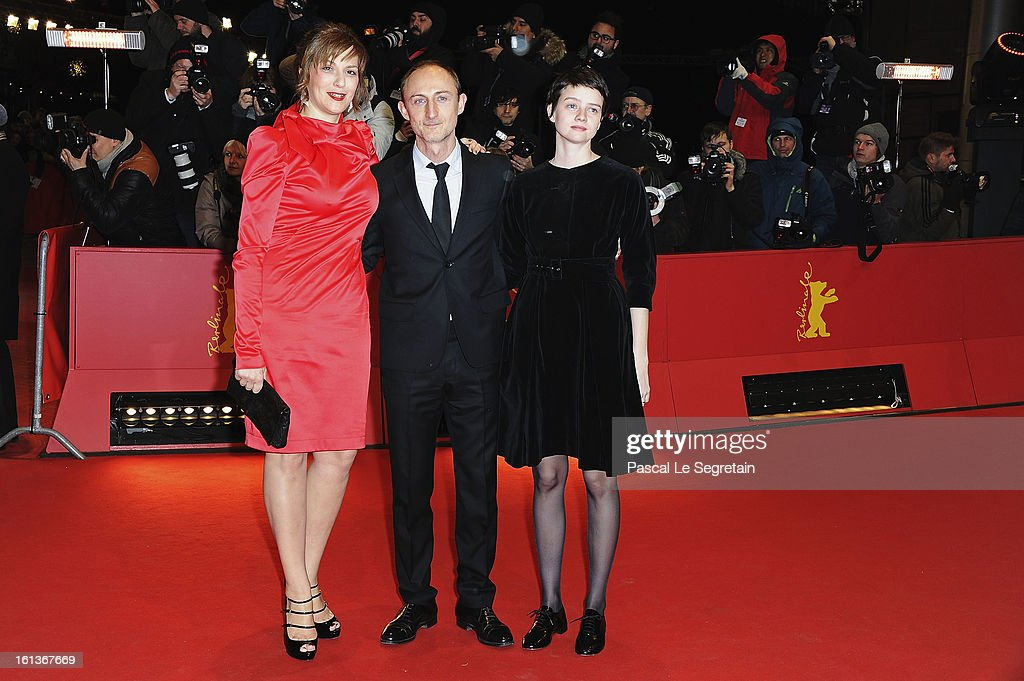 Actress <a gi-track='captionPersonalityLinkClicked' href=/galleries/search?phrase=Martina+Gedeck&family=editorial&specificpeople=621042 ng-click='$event.stopPropagation()'>Martina Gedeck</a>, director Guillaume Nicloux and actress <a gi-track='captionPersonalityLinkClicked' href=/galleries/search?phrase=Pauline+Etienne&family=editorial&specificpeople=6128830 ng-click='$event.stopPropagation()'>Pauline Etienne</a> attend 'The Nun' Premiere during the 63rd Berlinale International Film Festival at Berlinale Palast on February 10, 2013 in Berlin, Germany.