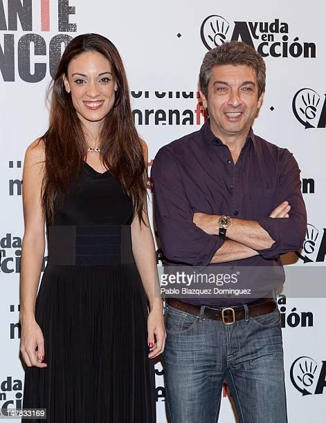 Actress Martina Gusman and actor Ricardo Darin attend 'Elefante Blanco' Premiere at Palafox Cinema on July 4 2012 in Madrid Spain