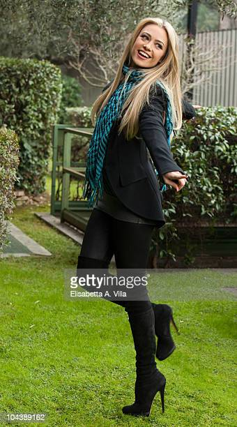 Actress Martina Stella attends a photocall for the Italian TV show 'Il Piu Grande' at RAI Viale Mazzini on January 18 2010 in Rome Italy