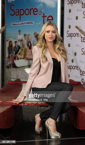 Actress Martina Stella attends 'Sapore Di Te' photocall at Cinema Adriano on January 8 2014 in Rome Italy