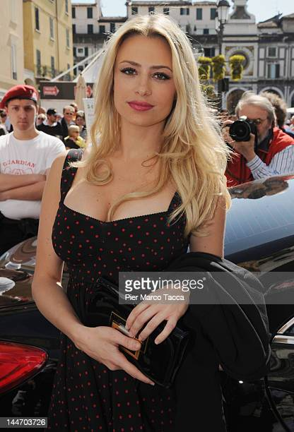 Actress Martina Stella attends the 2012 Mille Miglia attends on May 17 2012 in Brescia Italy