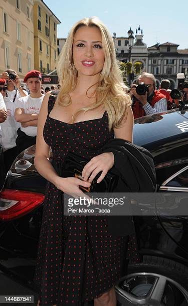 Actress Martina Stella attends the 2012 Mille Miglia on May 17 2012 in Brescia Italy