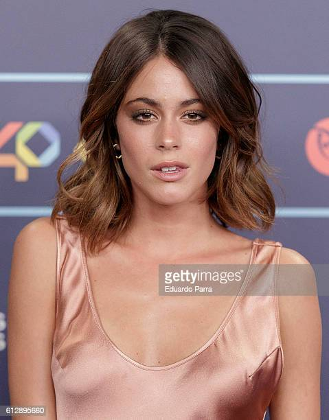 Actress Martina Stoessel attends the 'Los40 Music Awards 2016' photocall at Florida Park on October 5 2016 in Madrid Spain