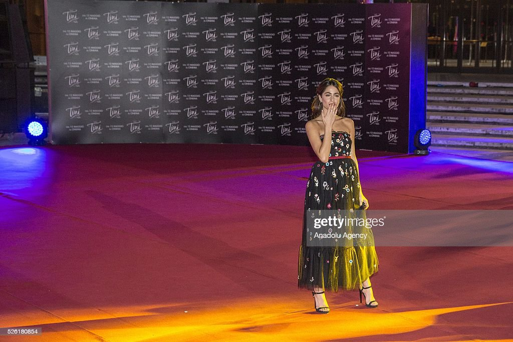 Actress Martina Stoessel attends the premiere of Tini-La nuova vita di Violetta at Auditorium Parco della Musica on April, 29, 2016 in Rome, Italy.