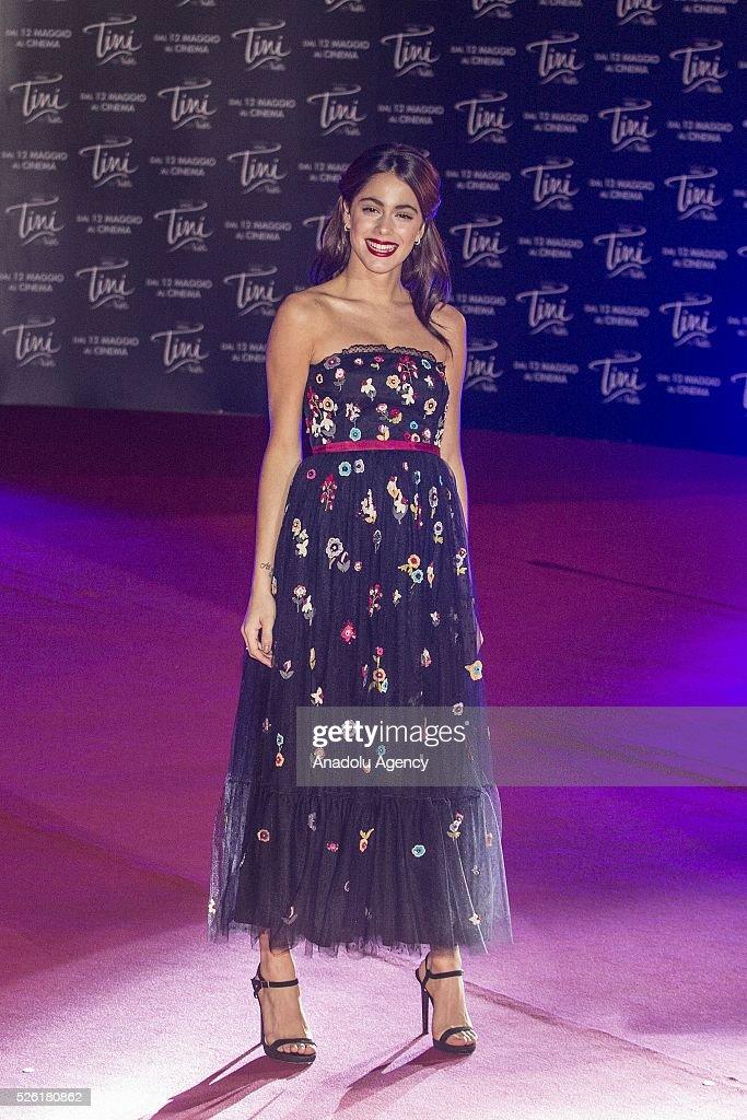 Actress Martina Stoessel attends the premiere of Tini-La nuova vita di Violetta at Auditorium Parco della Musica on April, 29, 2016 in Rome, Italy.