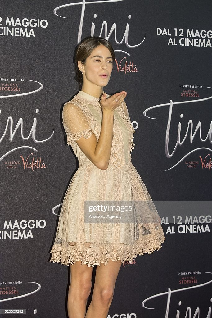 Actress Martina Stoessel poses during a photocall of 'Tini - La nuova vita di Violetta' at Grand Hotel Parco dei Principi in Rome, Italy on April 29, 2016.