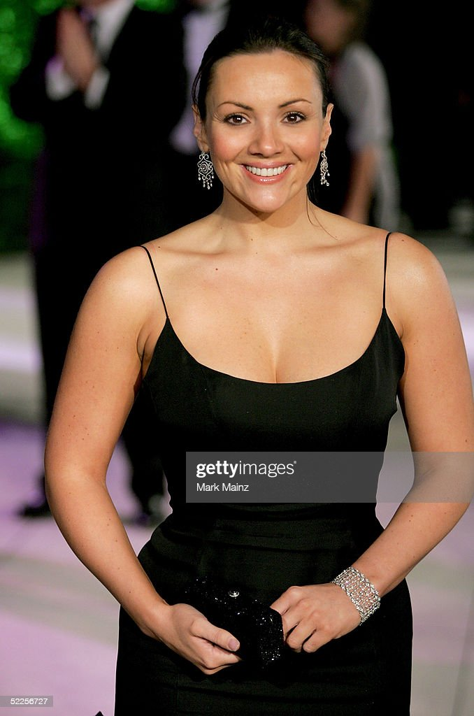 Actress Martine McCutcheon arrives at the Vanity Fair Oscar Party at Mortons on February 27, 2005 in West Hollywood, California.