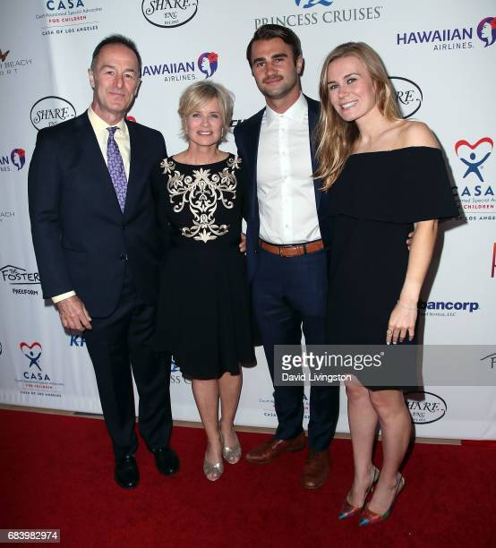 Actress Mary Beth Evans and family members attend the 2017 CASA of Los Angeles Evening To Foster Dreams Gala at The Beverly Hilton Hotel on May 16...