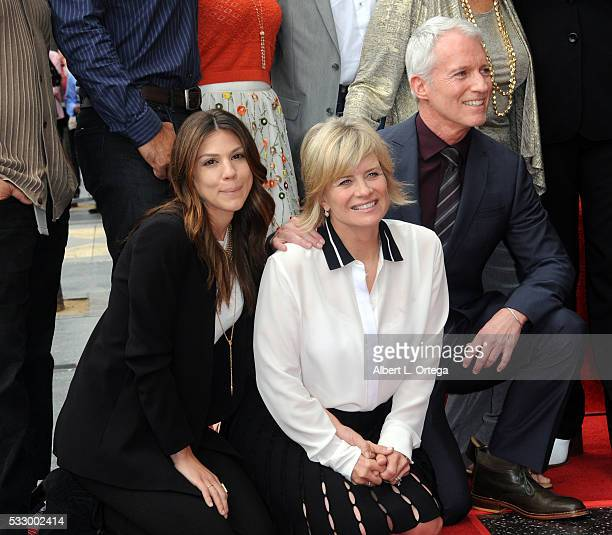 Actress Mary Beth Evans and producer Greg Mengs at Deidre Hall's Star ceremony held On The Hollywood Walk Of Fame on May 19 2016 in Hollywood...