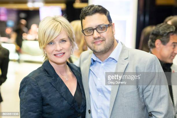 Actress Mary Beth Evans and Show Runner/Director Gregori J Martin attend the Cast Premiere Screening Of Lany Entertainment's 'The Bay' Season 3 at...