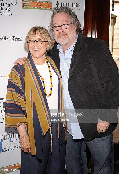 Actress Mary Beth Hurt and producer Tom Hulce attend the 2010 Drama Desk Award nominees cocktail reception at Churrascaria Plataforma on May 6 2010...