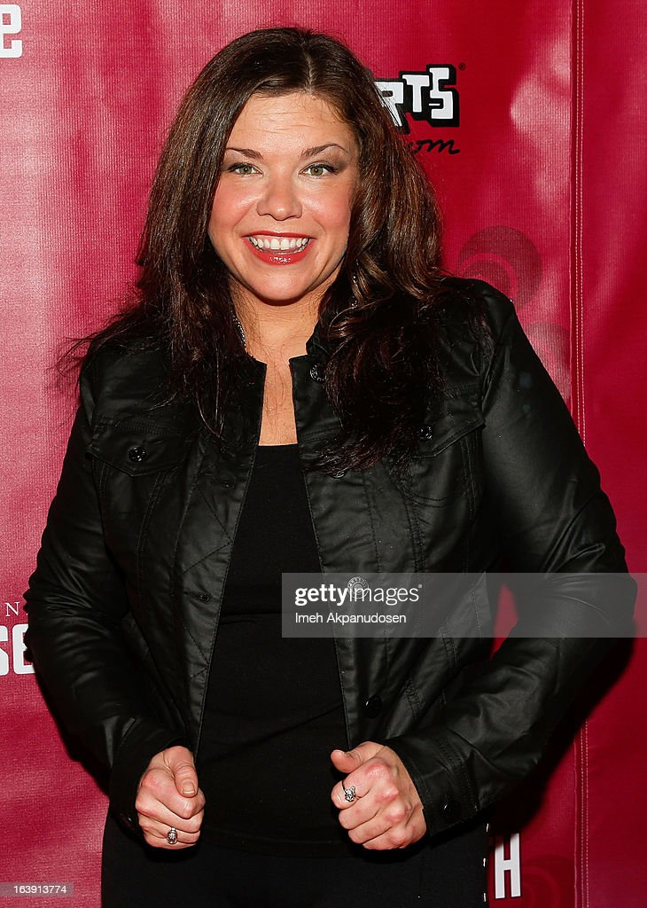 Actress Mary Bridget Davies attends the opening night of 'One Night With Janis Joplin' at Pasadena Playhouse on March 17, 2013 in Pasadena, California.