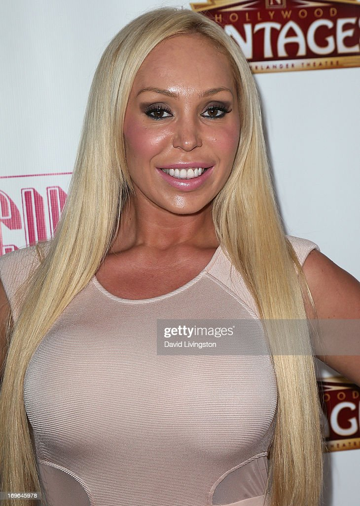 Actress Mary Carey attends the Los Angeles theatre premiere of 'Priscilla Queen of the Desert' at the Pantages Theatre on May 29, 2013 in Hollywood, California.