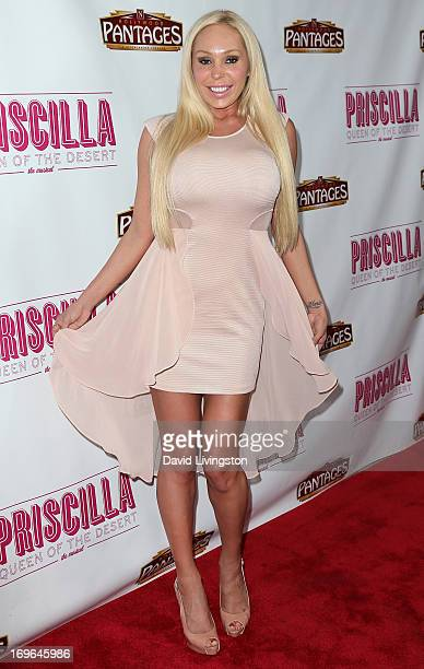 Actress Mary Carey attends the Los Angeles theatre premiere of 'Priscilla Queen of the Desert' at the Pantages Theatre on May 29 2013 in Hollywood...