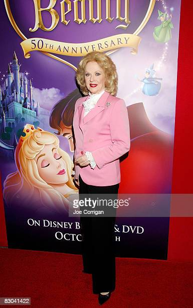 Actress Mary Costa the original voice of Sleeping Beauty attends Disney's 'Sleeping Beauty' 50th Anniversary DVD release at the Chelsea Cinemas...