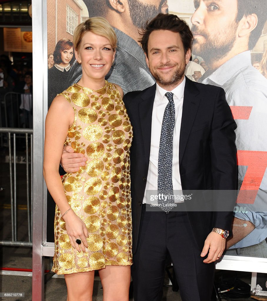 Actress Mary Elizabeth Ellis and actor Charlie Day attend the premiere of 'Fist Fight' at Regency Village Theatre on February 13, 2017 in Westwood, California.