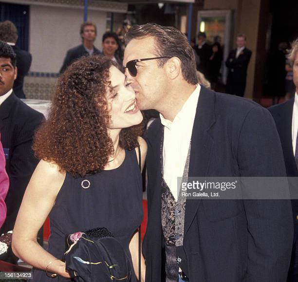 Actress Mary Elizabeth Mastrantonio and Kevin Costner attending the premiere of 'Robin HoodPrince of Thieves' at Mann Village Theater in Westwood...