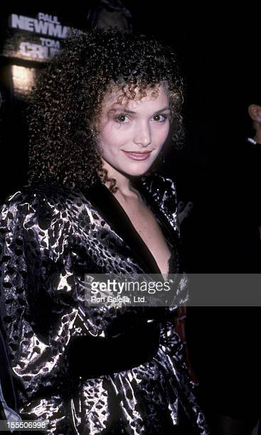 Actress Mary Elizabeth Mastrantonio attending the premiere party for The Color of Money on October 14 1986 at Chasen's Restaurant in Beverly Hills...