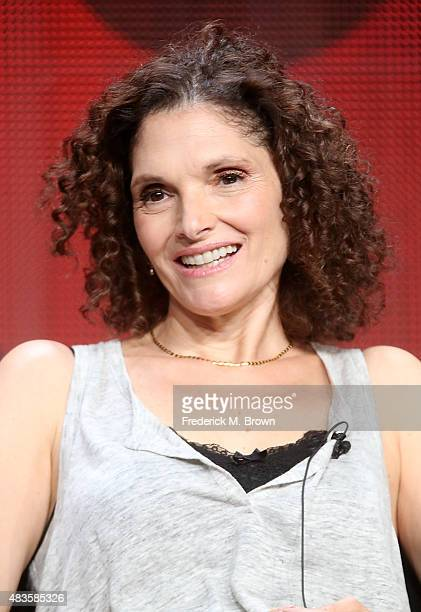 Actress Mary Elizabeth Mastrantonio speaks onstage during the 'Limitless' panel discussion at the CBS portion of the 2015 Summer TCA Tour at The...