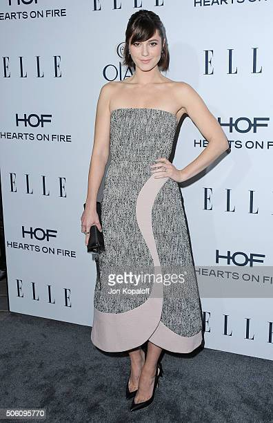 Actress Mary Elizabeth Winstead arrives at ELLE's 6th Annual Women In Television Dinner at Sunset Tower Hotel on January 20 2016 in West Hollywood...