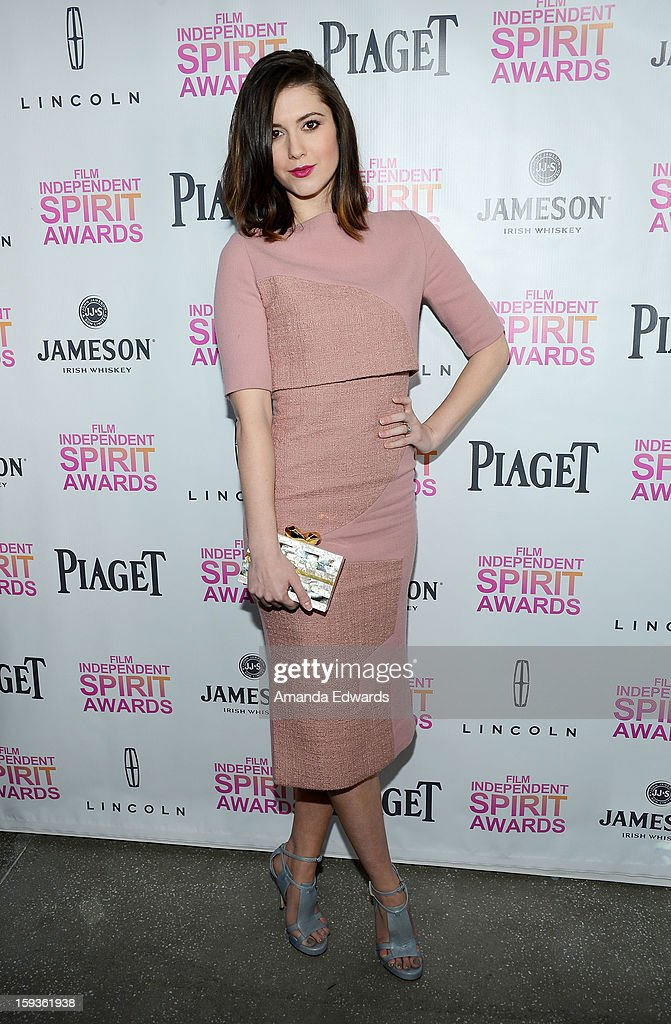 Actress <a gi-track='captionPersonalityLinkClicked' href=/galleries/search?phrase=Mary+Elizabeth+Winstead&family=editorial&specificpeople=782914 ng-click='$event.stopPropagation()'>Mary Elizabeth Winstead</a> arrives at the 2013 Film Independent Filmmaker Grant And Spirit Awards Nominees Brunch at BOA Steakhouse on January 12, 2013 in West Hollywood, California.
