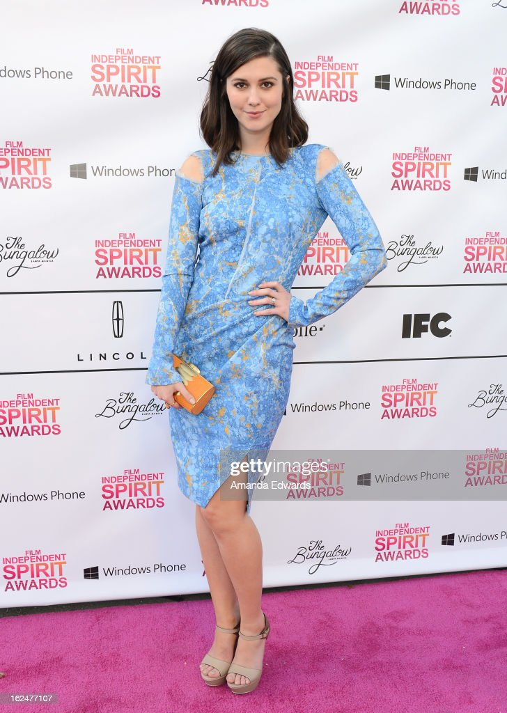 Actress <a gi-track='captionPersonalityLinkClicked' href=/galleries/search?phrase=Mary+Elizabeth+Winstead&family=editorial&specificpeople=782914 ng-click='$event.stopPropagation()'>Mary Elizabeth Winstead</a> attends the 2013 Film Independent Spirit Awards after party at The Bungalow at The Fairmont Hotel on February 23, 2013 in Santa Monica, California.