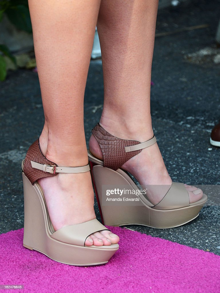 Actress Mary Elizabeth Winstead (shoe detail) attends the 2013 Film Independent Spirit Awards After Party hosted by Microsoft Windows Phone at The Bungalow at The Fairmont Hotel on February 23, 2013 in Santa Monica, California.