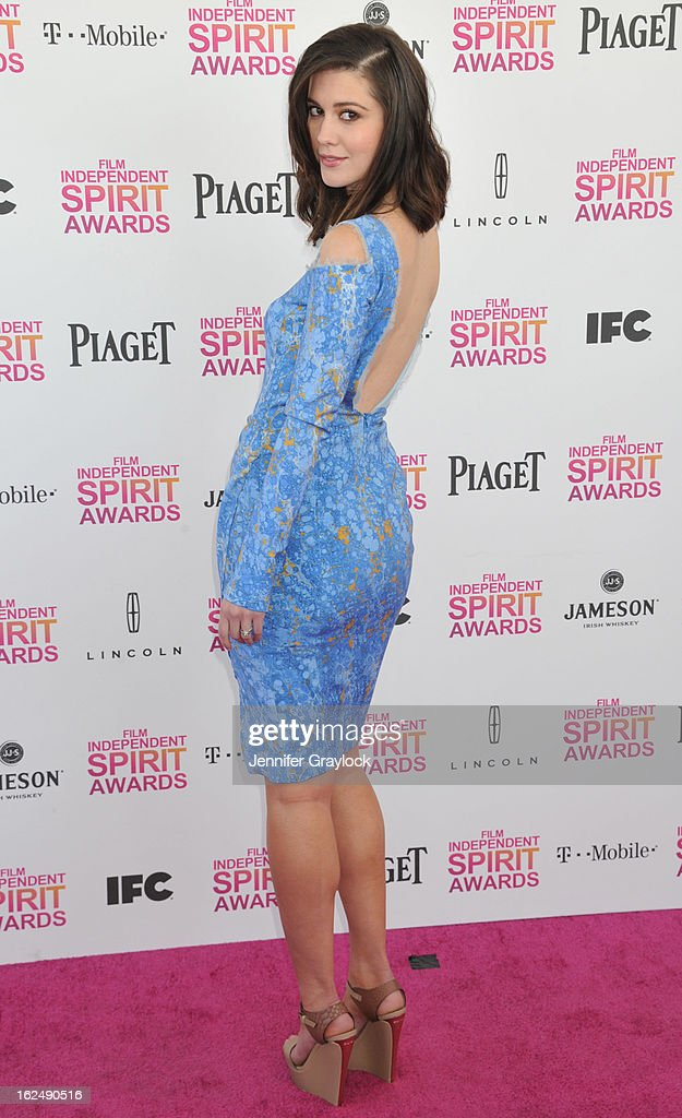 Actress Mary Elizabeth Winstead attends the 2013 Film Independent Spirit Awards held on the Santa Monica beach on February 23, 2013 in Santa Monica, California.